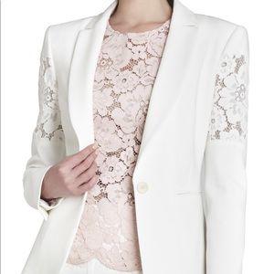 ✨BCBG Noah Floral-Lace White Jacket